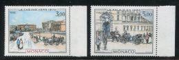 MONACO  ( POSTE )  : Y&T  N°  1340/41  TIMBRES  NEUFS  SANS  TRACE  DE  CHARNIERE , A  VOIR . - Monaco