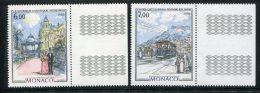 MONACO  ( POSTE )  : Y&T  N°  1543/44  TIMBRES  NEUFS  SANS  TRACE  DE  CHARNIERE , A  VOIR . - Monaco