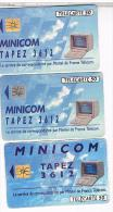 3 TELECARTES     FRANCE  TELECOM    MINITEL    BE - Phonecards