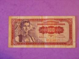 Yougoslavie 100 Dinara 1955 - Jugoslavia