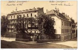 AIX LES BAINS - VILLA ET HOTEL SEVIGNE - SUPERBE CARTE PHOTO - Aix Les Bains
