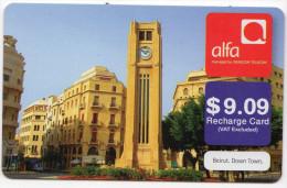 LIBAN REMOTE PREPAYEE ALFA Année 2012 - Liban