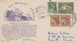 Enveloppe  U.S.A    FORT  LE  BOEUF    MEADVILLE   7  December 1932 - Event Covers