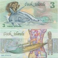 Cook Islands 3 Dollars 1987 UNC P-3 - Cook Islands