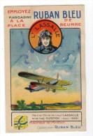 Chromo Pour Margarine Ruban Bleu, Aviation, Avion, Lassalle - Non Classés