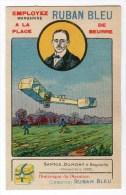 Chromo Pour Margarine Ruban Bleu, Aviation, Avion, Santos Dumont - Non Classés