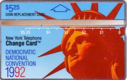 USA LANDIS STATUE LIBERTE LIBERTY DEMOCRATIC CONVENTION 1992 NYNEX MINT NEUVE VERY RARE