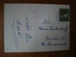 """Landpoststempel """"Badenstedt über Zeven"""" Auf  Glückwunschkarte - [7] West-Duitsland"""