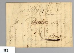 Complete Brief Van Verviers (B) Naar Colmar (Fr) Van 24-5-1809 - 1794-1814 (Periodo Francese)