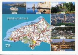 76 Seine Maritime Géographique : Le Havre Etretat Dieppe Rouen Saint Valéry Fecamp (multivues éd Combier) - France