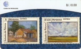 *PANAMA* - Scheda A Chip Usata - Panama