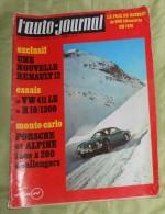 L´ Auto Journal. N° 1. 15 Janvier 1970. Renault 12. VW 411 LE. R 10 / 1300. Porche Et Alpine. - Sport