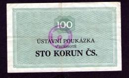 Czechoslovakia Prision Voucher Všehrdy 100 Kcs - Checoslovaquia