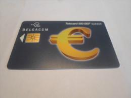 BELGIUM - RARE chipphonecard eurosymbol blue 500 bef - LOW ISSUE