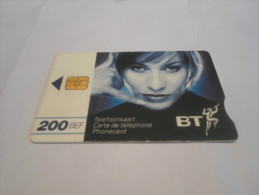 BELGIUM - HYPER RARE BT phonecard for use in Belgium - only in train stations - USED