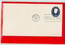 USA  -  Embossed Stamped Envelope - Stationery - Busta Intero Postale - Postwaardestukken