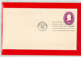 USA  -  Embossed Stamped Envelope - Stationery - Busta Intero Postale -  BENJAMIN  FRANKLIN - Postwaardestukken