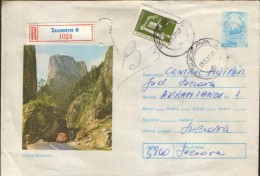Romania - Postal Stationery Envelope  1976 Circulated -Bicaz Canyon - Postal Stationery