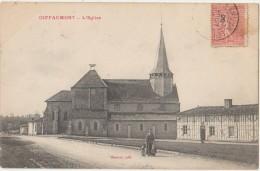 CPA 51 GIFFAUMONT Eglise Rue 1905 - Francia