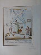 La Lecture Du Roman Nouveau, TB Litho ORIGINALE XIXème Colorisée, Saint-Aubert, , Ref 142 - Estampes & Gravures