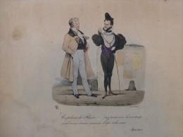 Ce Polisson De RACINE (Henri IV Et Louis-Philippe ?) TB Litho ORIGINALE XIXème Colorisée, Ratier, Ref 143 - Estampes & Gravures