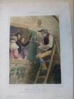 Musée OMNIBUS, Honneur Aux Artistes (PEINTRE) TB Litho  ORIGINALE XIXème Colorisée, Garnier,  Ref 150 - Prints & Engravings