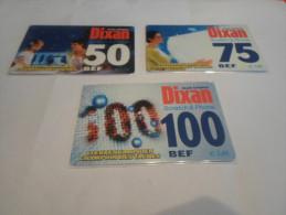 BELGIUM - FULL SET 3 values prepaid phonecard Dixan