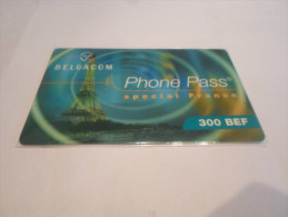 BELGIUM - RARE prepaid phonecard Belgacom - France/Paris