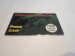 BELGIUM - RARE prepaid phonecard Prime call - high value 1000 BEF