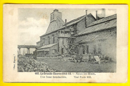 UNE FOSSE BOMBARDEE à NOEUX-LES-MINES * LA GRANDE GUERRE 1914-18 Dép 62 Pas De Calais ANIMATION MINE MINEUR W76 - Noeux Les Mines