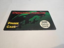 BELGIUM - RARE prepaid phonecard Prime call - high value 500 BEF