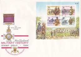 New Zealand 1984 Military History Army Souvenir Sheet FDC - FDC