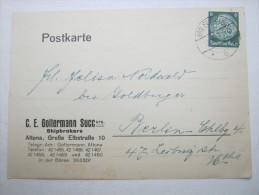 1934 , ALTONA    Firmenlochung , Perfin , Beleg - Briefe U. Dokumente