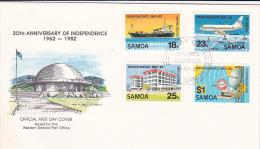 Samoa 1982 20th Anniversary Of Independence FDC - Samoa