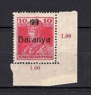 Hongrie Baranya Occupation Serbe 1919 YT 29 Mi 35 ** - Baranya