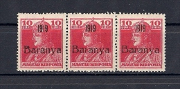 Hongrie Baranya Occupation Serbe 1919 YT 29 Mi 35 ** 3x - Baranya
