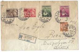 10992 - Lettre Recommandée De Ljubljana 14.10.1938 Pour Berne - 1931-1941 Kingdom Of Yugoslavia