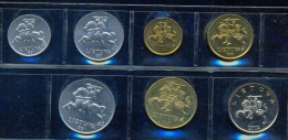 LITHUANIA * 7 COINS SET YEARS 1991 - 2002 * UNCIRCULATED - Litouwen