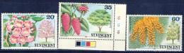 +K516. St. Vincent 1984. Flowers. 3 Items. MNH(**) - St.Vincent (1979-...)