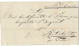 10995 - Lettre  PRZIBRAM 30.06.1848 - Tchécoslovaquie