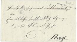 10996 - Lettre  TABOR 19.11.1844 Pour Prag - Tchécoslovaquie