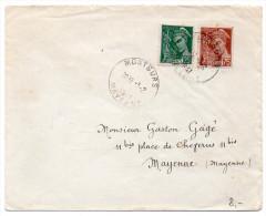 Mercure 25 + 75c Sur Lettre De 1941 - 1921-1960: Modern Period