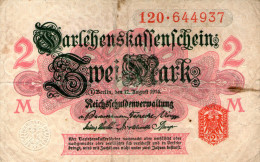 Germany,2 Mark,05.08.1914,Ro.52b,P.53,used,see Scan - Altri