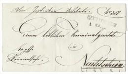 10998 - Lettre  NEUTITSCHEN  22.05.1844 - Bohême & Moravie
