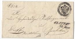 11000 - Lettre  KLATTAU 30.01.1854 - Bohême & Moravie