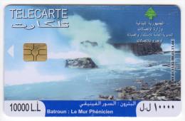 LIBAN TELECARTE BATROUN LE MUR PHENICIEN Année 2008 - Liban