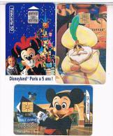 3 TELECARTE  FRANCE  TELECOM     DISNEY    BE - Disney
