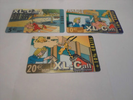 BELGIUM -  Full set 3 cards XL-call - Euro exchange with the better 20 euro card