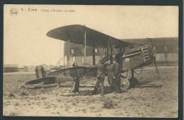 Evere - Bruxelles. Champ D´Aviation. Avion, Pilotes Et Mécaniciens. - Evere