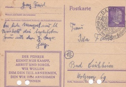 Very Late Feldpost WW2: German Postal Stationary Used From Soldier From Unknow Unit P/m Dahn 24.2.1945 - Please Note Arc - Militares